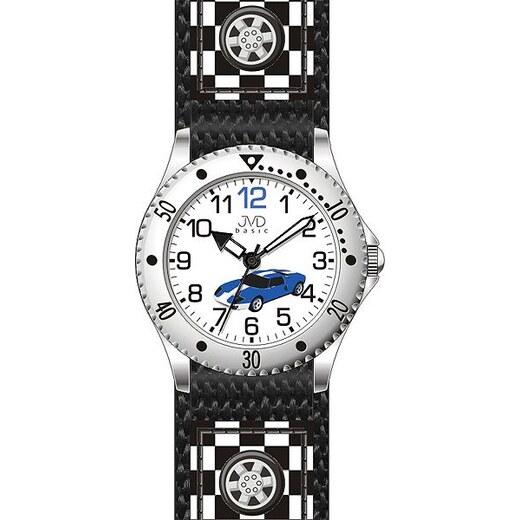 Chlapecké dětské černé hodinky JVD basic J7126.1 se závodním autem -  Glami.cz 2f5ff035f5