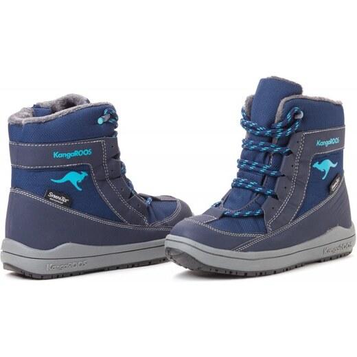 KangaROOS dětská kotníčková obuv Kanga - Tex 31 tmavě modrá - Glami.cz 7a129f8e978