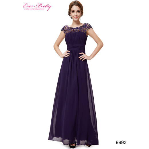 Ever Pretty plesové šaty s krajkou fialové 9993 S - Glami.cz 686e5a696e