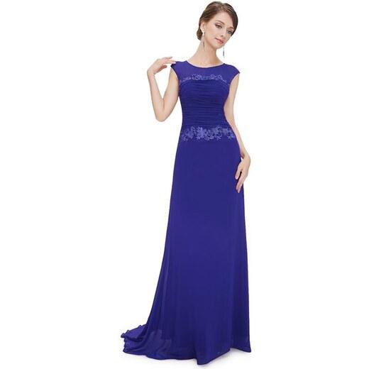 Plesové šaty s krajkou modré - romantické Ever Pretty 8369 - Glami.cz 0d62af4e26