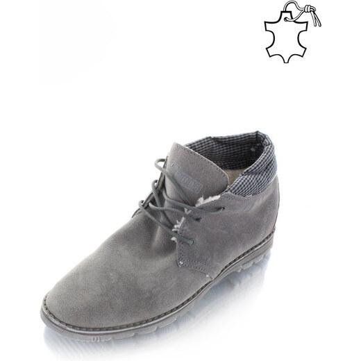 Dude Shoes Pánské šedé boty Pasione - Glami.cz db57251633