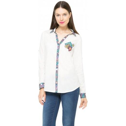 Desigual dámská košile XS bílá - Glami.cz 4337ffe6a8