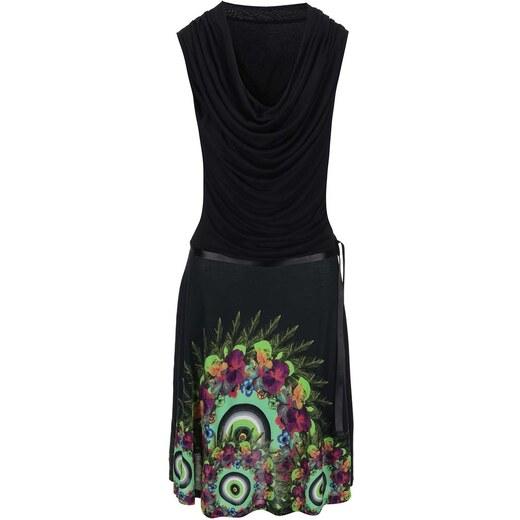 73ab30712d Černé šaty s barevným potiskem Desigual Zarinna - Glami.cz