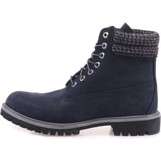 037baa7e06 Tmavě modré pánské kožené nepromokavé boty Timberland 6-Inch Premium -  Glami.cz