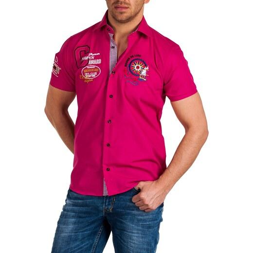 Pánská růžová košile BINDER DE LUXE - vel. L - Glami.cz 2b6c7d0402