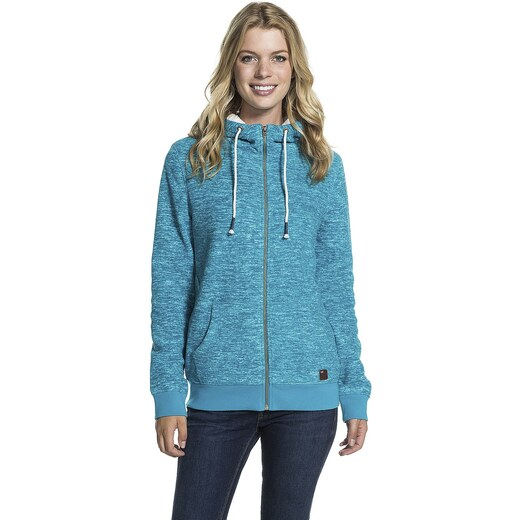 248767a90a mikina Roxy Snowstorm Zip - BRWH Moroccan Blue Heather - Glami.cz