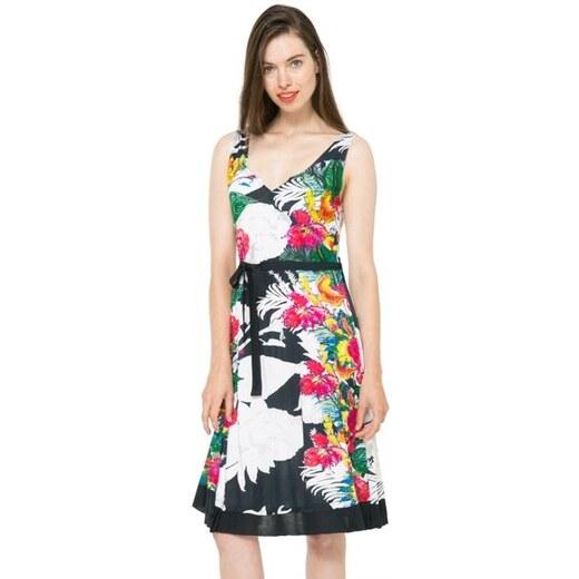 Desigual barevné šaty Hallen - Glami.cz ddf19d02de