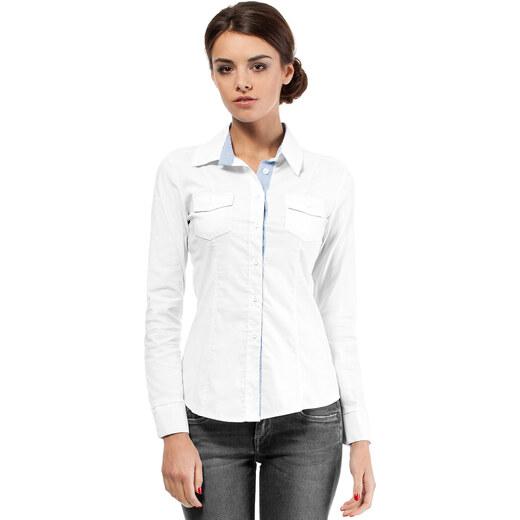Bílá košile MOE 021 - Glami.cz 27be6674cd