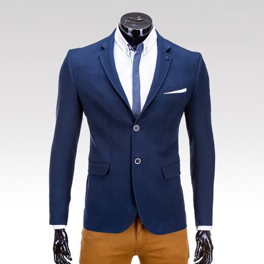 Ombre Clothing Pánské sako Delmore modré - Glami.cz 4c86ea3dce