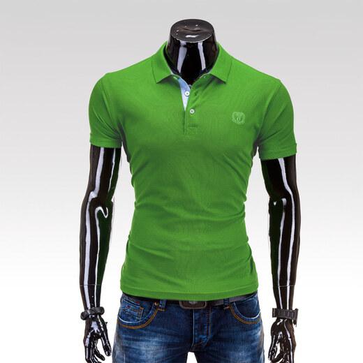 912c72ae1281 Ombre clothing pánské tričko Freddy zelené S - Glami.cz