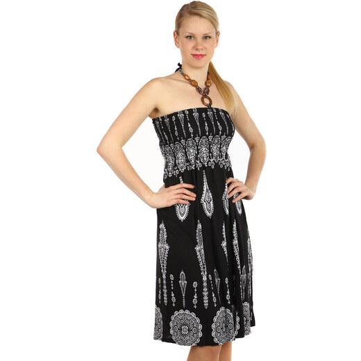 Glara Vzorované letní šaty za krk - Glami.cz c2add41785