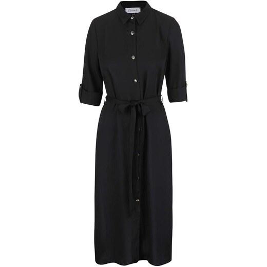 46f1c1731b2 Černé košilové šaty na knoflíky v zlaté barvě Closet - Glami.cz