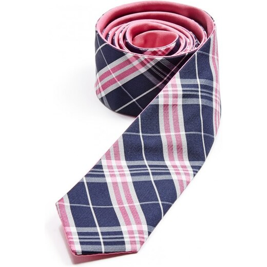 GUESS Reversible Plaid Tie - summer love pink - Glami.cz c57ad80dd1