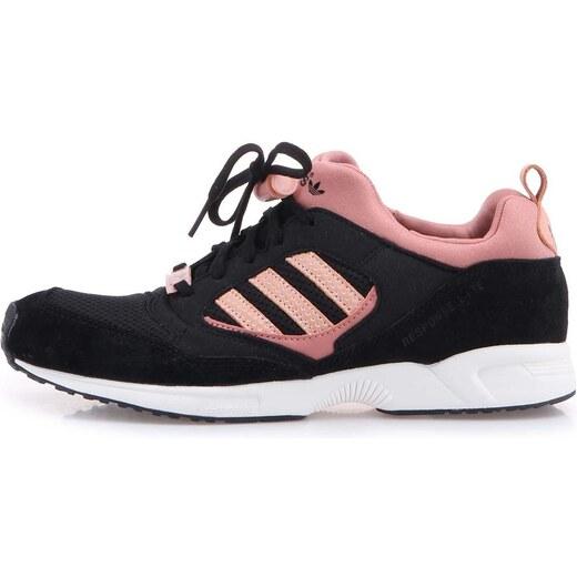 8c53cabc2b0 Růžovo-černé dámské sportovní boty adidas Originals Torsion Response -  Glami.cz