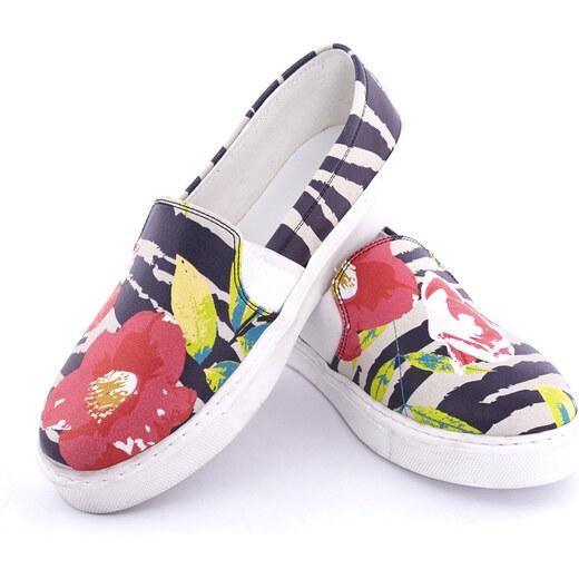 Streetfly Dámske slip-on topánky VNS930 Printed - Colourful - Glami.sk a33f8461a35