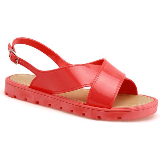 f92664f096ff Červené sandále - 5029 odtiene farieb  červená - Glami.sk