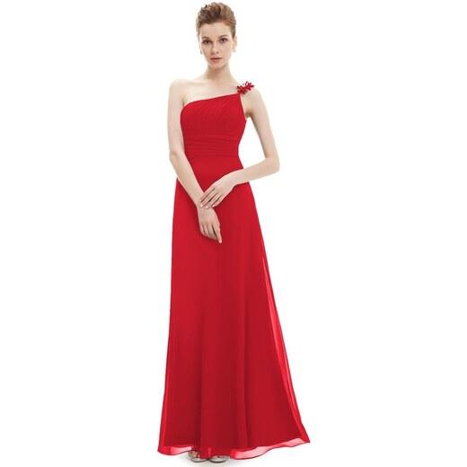 cfde8fe10615 Ever Pretty dlouhé červené šaty na jedno ramínko 9596 XS - Glami.cz