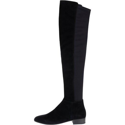 b359651474 Čierne dámske semišové vysoké čižmy s elastickou vsadkou Vagabond Gigi -  Glami.sk