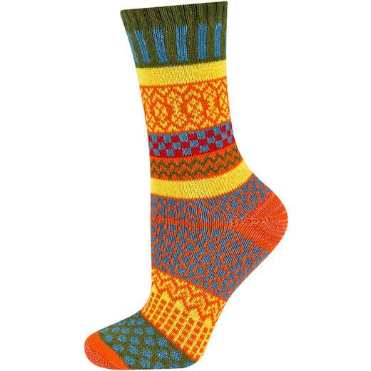 ab74cb579f1 SOXO Dámské žluto-oranžové ponožky Peru - Glami.cz