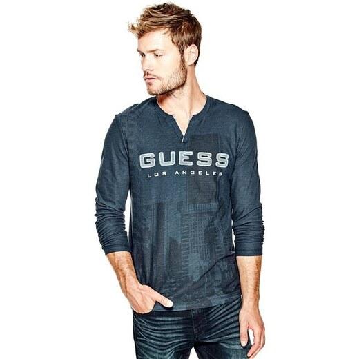 GUESS pánské tričko s dlouhým rukávem Yser - Glami.cz 0f5ecfaa68