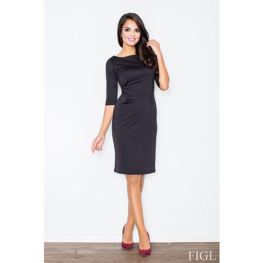 FIGL Dámske púzdrové šaty čierna M202 - Glami.sk bc9fb50ce0d