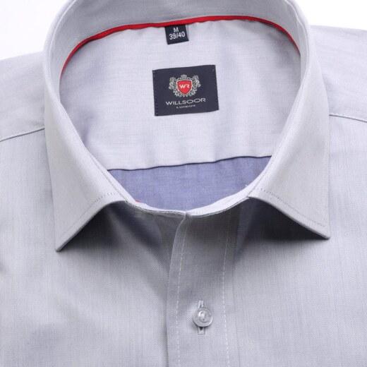 Willsoor Pánská slim fit košile London (výška 176-182) 6757 v šedé barvě s  formulí Easy Care - Glami.cz 71032e157e