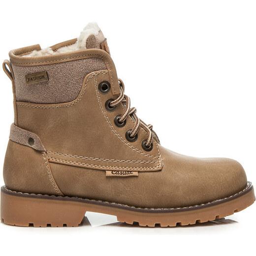 3cc369b2a AMERICAN CLUB detské členkové hnedé topánky - TL1709S-2CR odtiene farieb:  hnedá - Glami.sk