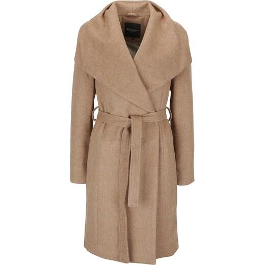 Béžový dámský kabát s páskem Broadway Remi - Glami.cz 72fb3fab70