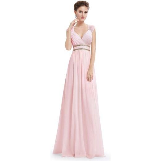 c0ecb50b976d Ever-Pretty Růžové šaty inspirované antikou ze šifonu - Glami.cz