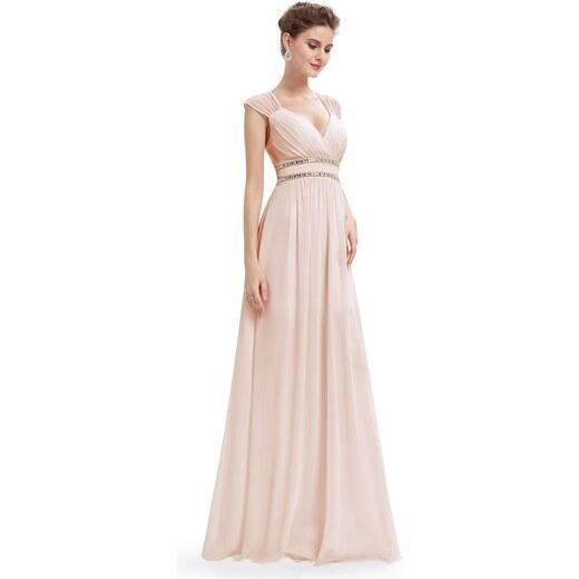dc213e93fab4 Ever-Pretty Béžové šaty inspirované antikou ze šifonu - Glami.cz