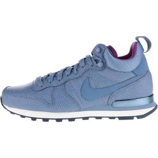 4589689f6cc Modré kožené dámské kotníkové tenisky Nike Internationalist Mid Leather -  Glami.cz