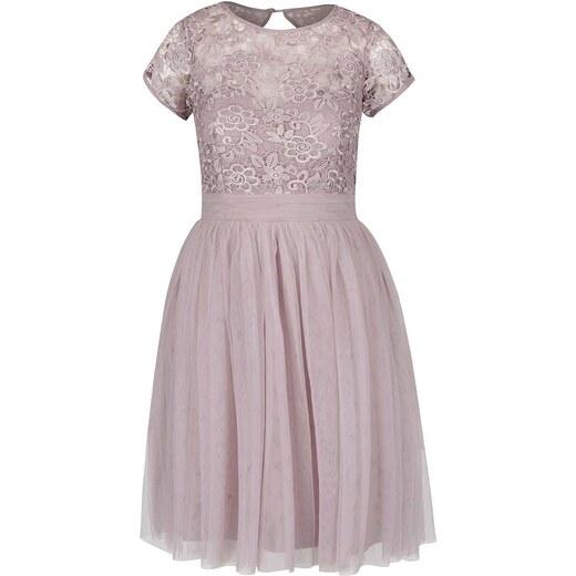 a21aac4db722 Staroružové šaty s čipkovaným topom Little Mistress - Glami.sk