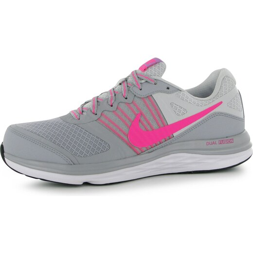 e0ff1bbba08aa boty Nike Dual Fusion X dámské Running Shoes Grey/Pink - Glami.cz