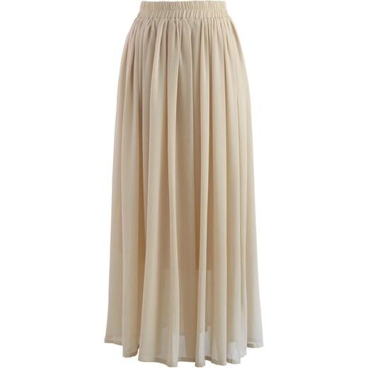 270940ba0bf CHICWISH Dámská sukně Maxi Candy Chiffon nude - Glami.cz