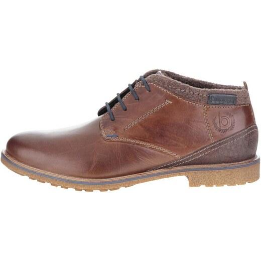 Hnedé pánske kožené členkové topánky bugatti Muno - Glami.sk 781ed1e7cbe