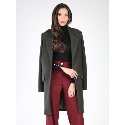 Carla by Rozarancio Dámsky kabát CR17F P3100 DARK GREEN - Glami.sk e6ff8a38738