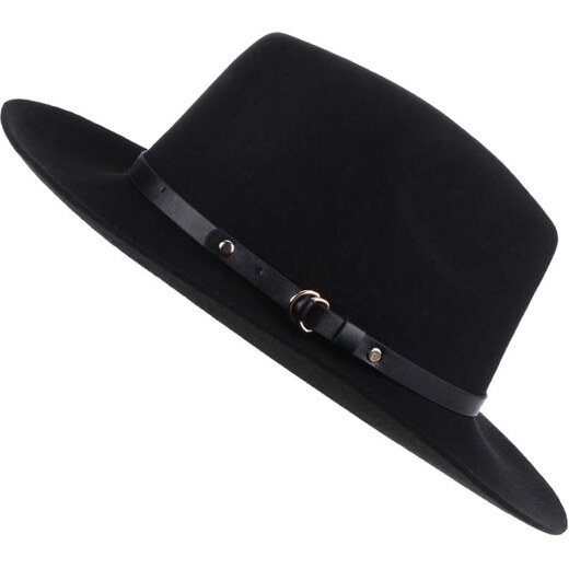 Černý vlněný klobouk Pieces Daniella - Glami.cz 610b4f7e3c
