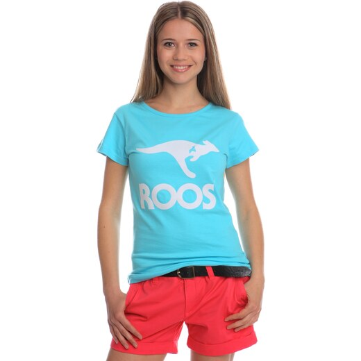 19e0490d455 Kangaroos Dámské tričko Roos American T0668 ss15 modrá - Glami.cz
