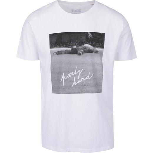 f238843307f45 Biele pánske tričko ZOOT Originál Party hard - Glami.sk