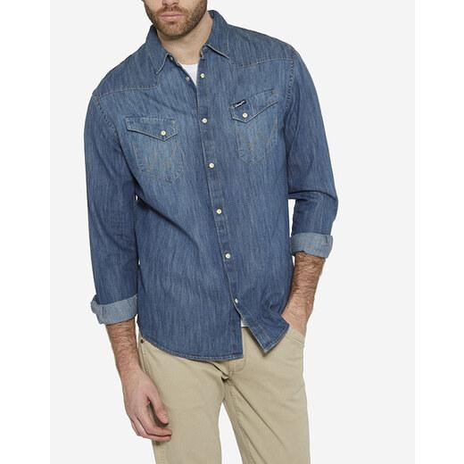Wrangler pánská džínová košile W5870O68E - Glami.cz 577f8b4d0c