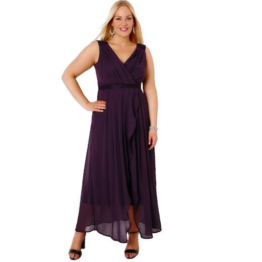 YOURS Lehké vrstvené šaty v tajemné fialové barvě - Glami.cz 155f2f9840