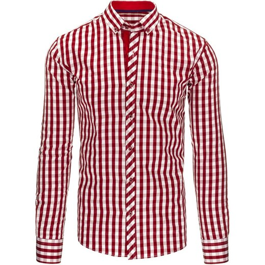 e1548f7721e Extravagantní pánská košile bíločervená - Glami.cz