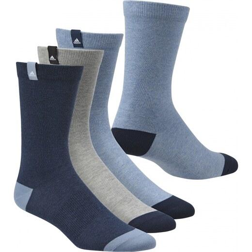 Ponožky adidas Performance PER LA CREW T3P (Tmavě modrá   Šedá   Modrá) -  Glami.cz 8badd3125d