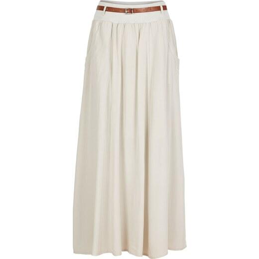 BODYFLIRT Bonprix - Jupe longue imprimée beige pour femme