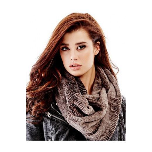 Guess Zimní šála Twisted Faux-Fur Infinity Scarf šedá Guess 0 mGU0518 -  Glami.cz 87893b1474