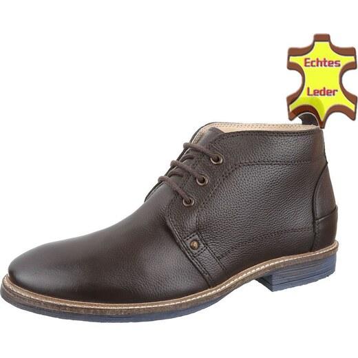 d6b914ad84bf Skvelé pánske členkové topánky z pravej kože - model Leathem 07 - Glami.sk