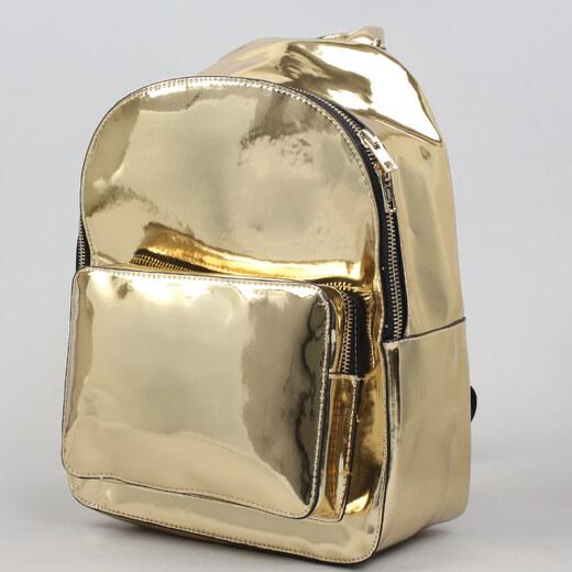 789f066c7b Urban Classics Midi Metallic Backpack zlatý - Glami.cz