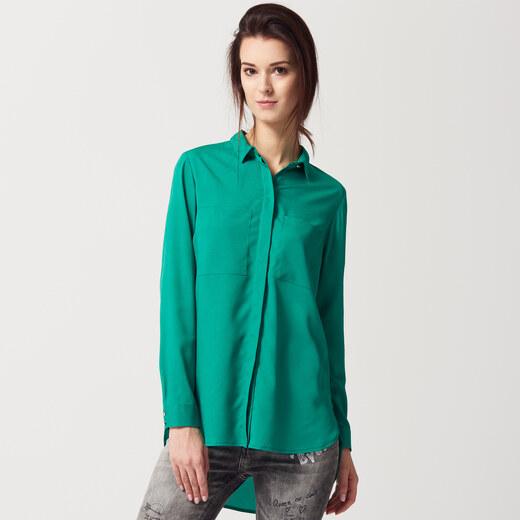 02143901b0 Mohito - Košeľa z lesklého materiálu - Zelená - Glami.sk