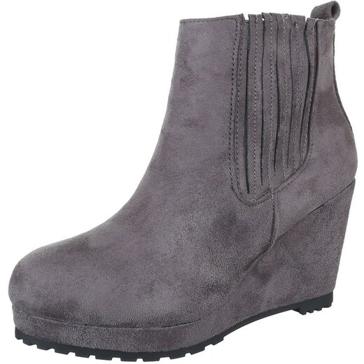 bcc095f8c3be Módne dámske členkové topánky nevšedného štýlu - model VANDA 09 sivé -  Glami.sk