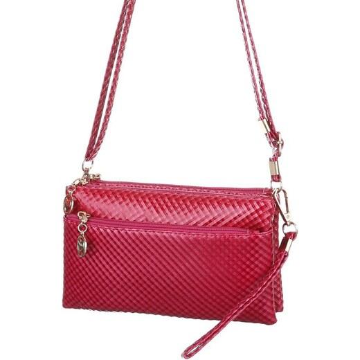 c0404c240f Dámska mini kabelka cez plece - slivkovo fialová až červená farba - Glami.sk